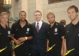 Martin Laursen, John Carey, Anthony Niblett, Olof Mellberg, and Thomas Sorensen in Columbus (2007)